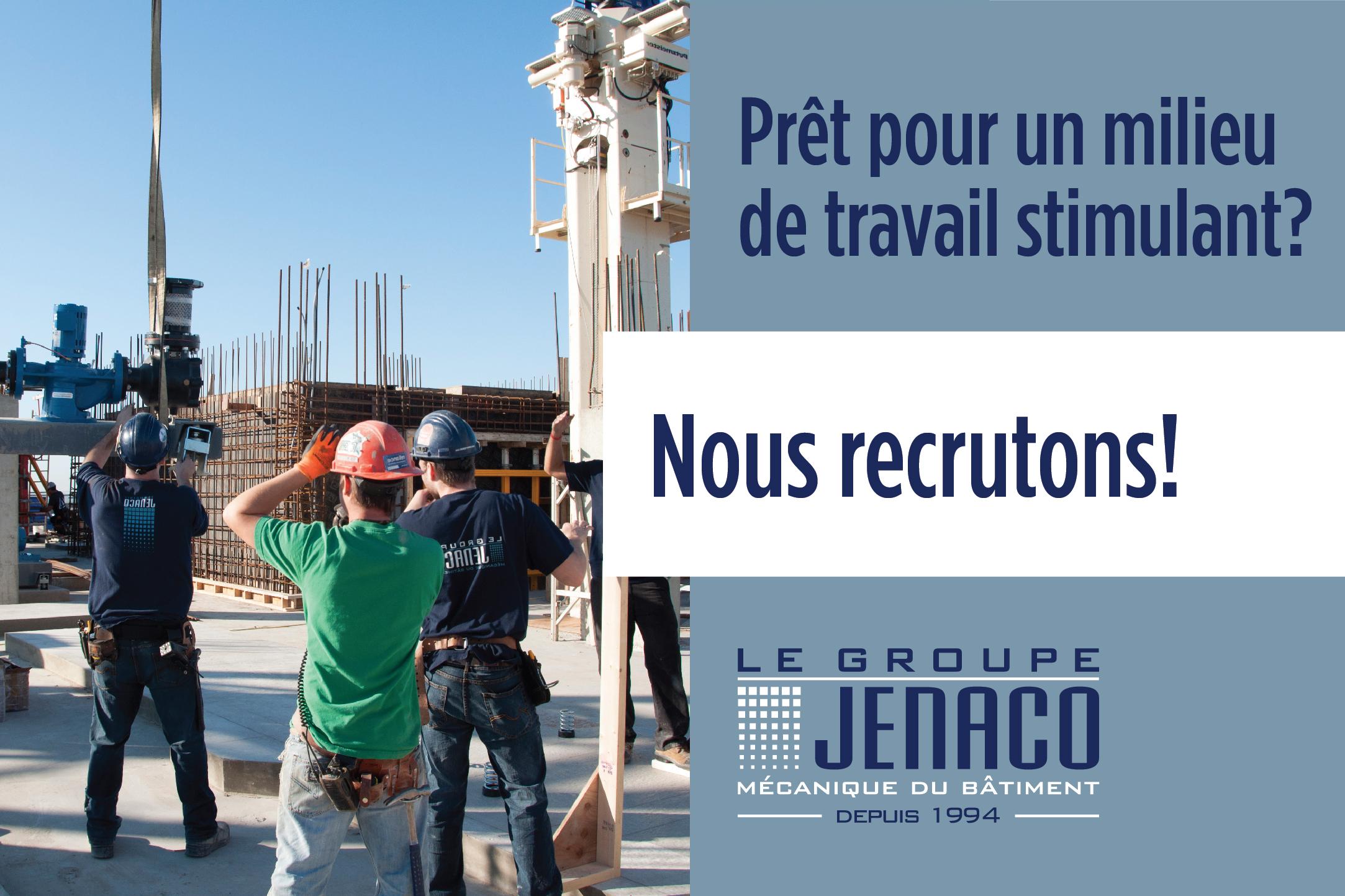 Le Groupe Jenaco en campagne de recrutement intensive